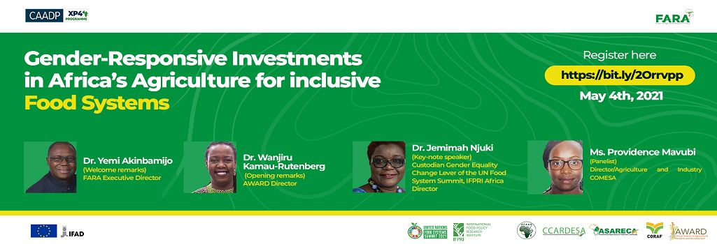 Gender-Responsive Investments in Africa's Agriculture for Inclusive food systems